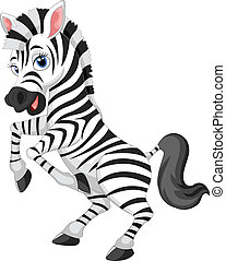 Cartoon zebra - vector illustration of Cartoon zebra