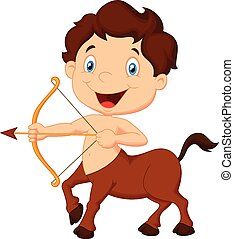 Cartoon Zodiac symbol sagittarius
