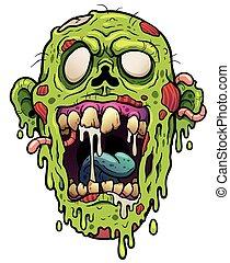 Vector illustration of Cartoon Zombie head