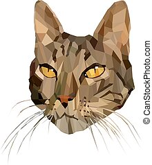 Vector Illustration of Cat in Low Poly Style