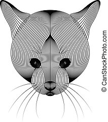 Vector illustration of cat on white background.