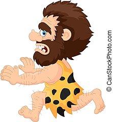 Caveman running - Vector illustration of Caveman running