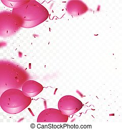 Celebration background with beautiful balloon and confetti