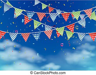 celebration on blue sky