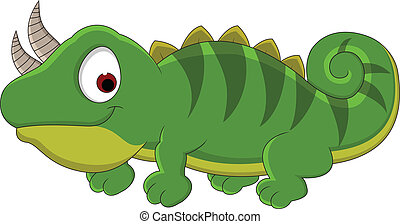 Chameleon cartoon