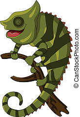 chameleon cartoon - vector illustration of chameleon cartoon