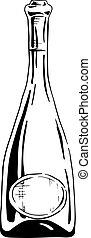 illustration of champagne bottle