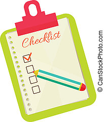 Vector illustration of check list