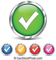 vector illustration of checkmark icons on white background