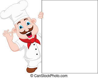 chef cartoon character with blank s