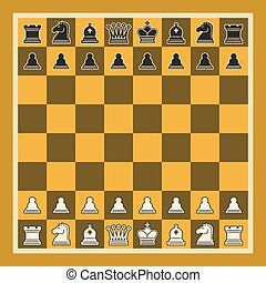 Vector illustration of Chess Board
