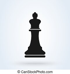 Vector illustration of chess king icon black