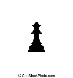 Vector illustration of chess king icon