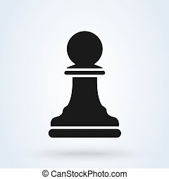 Vector illustration of chess pawn icon black