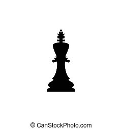 Vector illustration of chess queen icon.