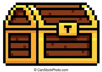 Chest - Vector Illustration of Chest cartoon - Pixel design