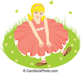 Child in pink dress