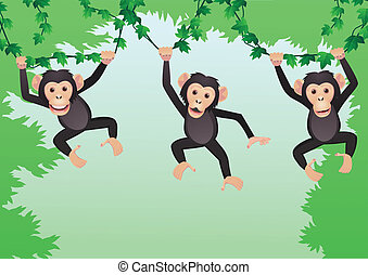 Chimpanzee cartoon