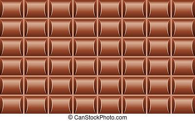 vector illustration of chocolate bar