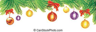Christmas banner - Vector illustration of Christmas banner