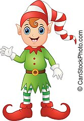 Christmas boy elf cartoon