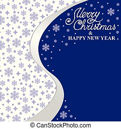 Christmas card with snowflakes background