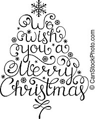 Christmas congratulation on white background - Vector...