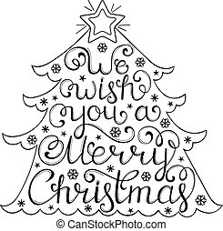 Christmas congratulation on white background