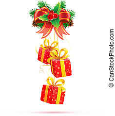 Christmas decorations - Vector illustration of Christmas...