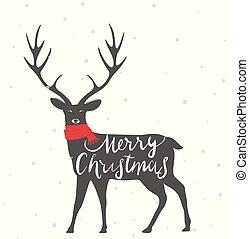 Christmas deer background