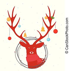 Christmas deer background
