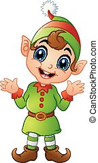 Christmas elf cartoon