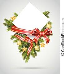 Christmas gift card cartoon with ri