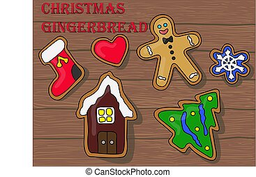 Vector Illustration of Christmas Gingerbread