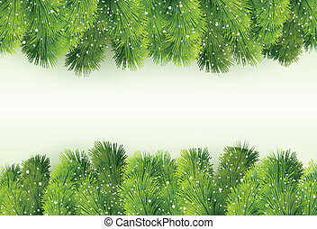 Christmas greeting with fir tree - Vector Illustration of...