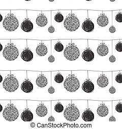 Vector illustration of Christmas seamless pattern