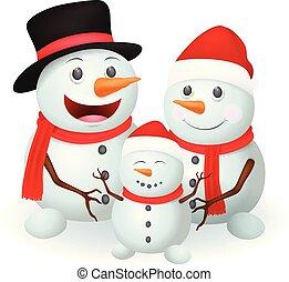 Christmas Snowman family