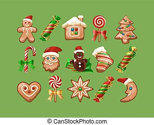 Vector illustration of Christmas sweets.