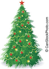 Christmas tree  - Vector illustration of Christmas tree