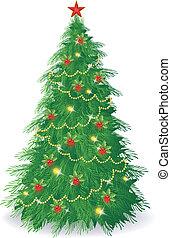 Christmas tree - Vector illustration of Christmas tree