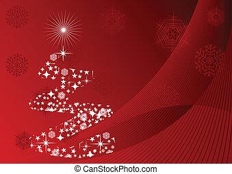 vector illustration of Christmas tr