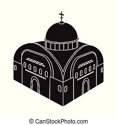 Vector illustration of church and orthodox icon. Set of church and chapel stock symbol for web.