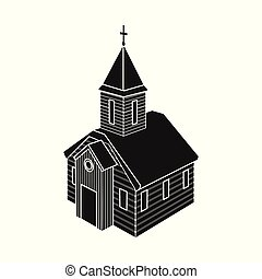 Vector illustration of church and orthodox logo. Collection of church and chapel stock symbol for web.