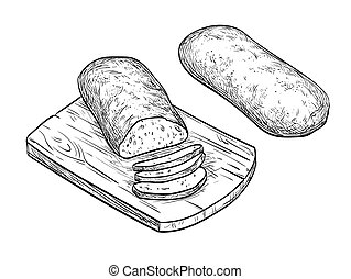 Vector illustration of ciabatta bread