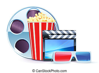 cinema background - Vector illustration of cinema background...