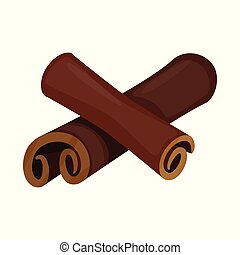 Vector illustration of cinnamon and stick icon. Collection of cinnamon and ingredient stock symbol for web.