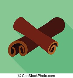 Vector illustration of cinnamon and stick icon. Set of cinnamon and ingredient vector icon for stock.