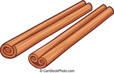 vector illustration of cinnamon sticks