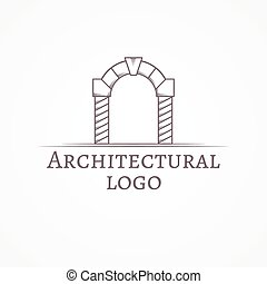 Vector illustration of circle arch icon with text