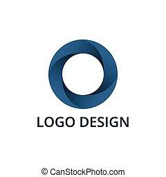 Vector illustration of circle logo